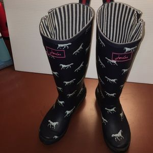 Joules Tall Wellies Horse Print